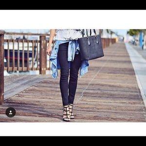 Studded caged heels